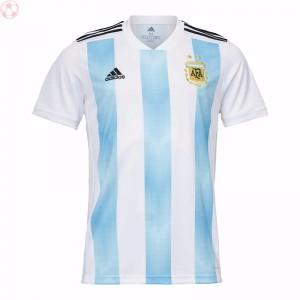 阿迪达斯阿根廷世界杯主场足球队服梅西短袖球衣BQ9324